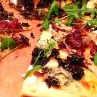 Paddy's Day Pizza (Black Pudding and Blue Cheese Pizza with Caramelised Onions)