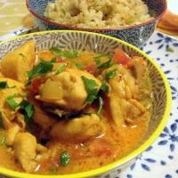 Coconut Chicken Masala with Cauliflower Rice