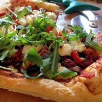 Easy Peasy Goats Cheese and Roast Vegetable Tart