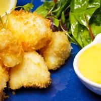 Monkfish Scampi with Homemade Lemon Mayonnaise