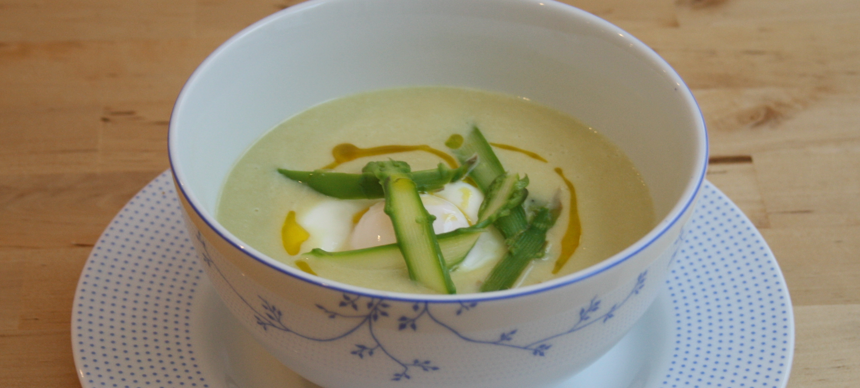 and asparagus soup with poached eggs and toast recipe creamy asparagus ...