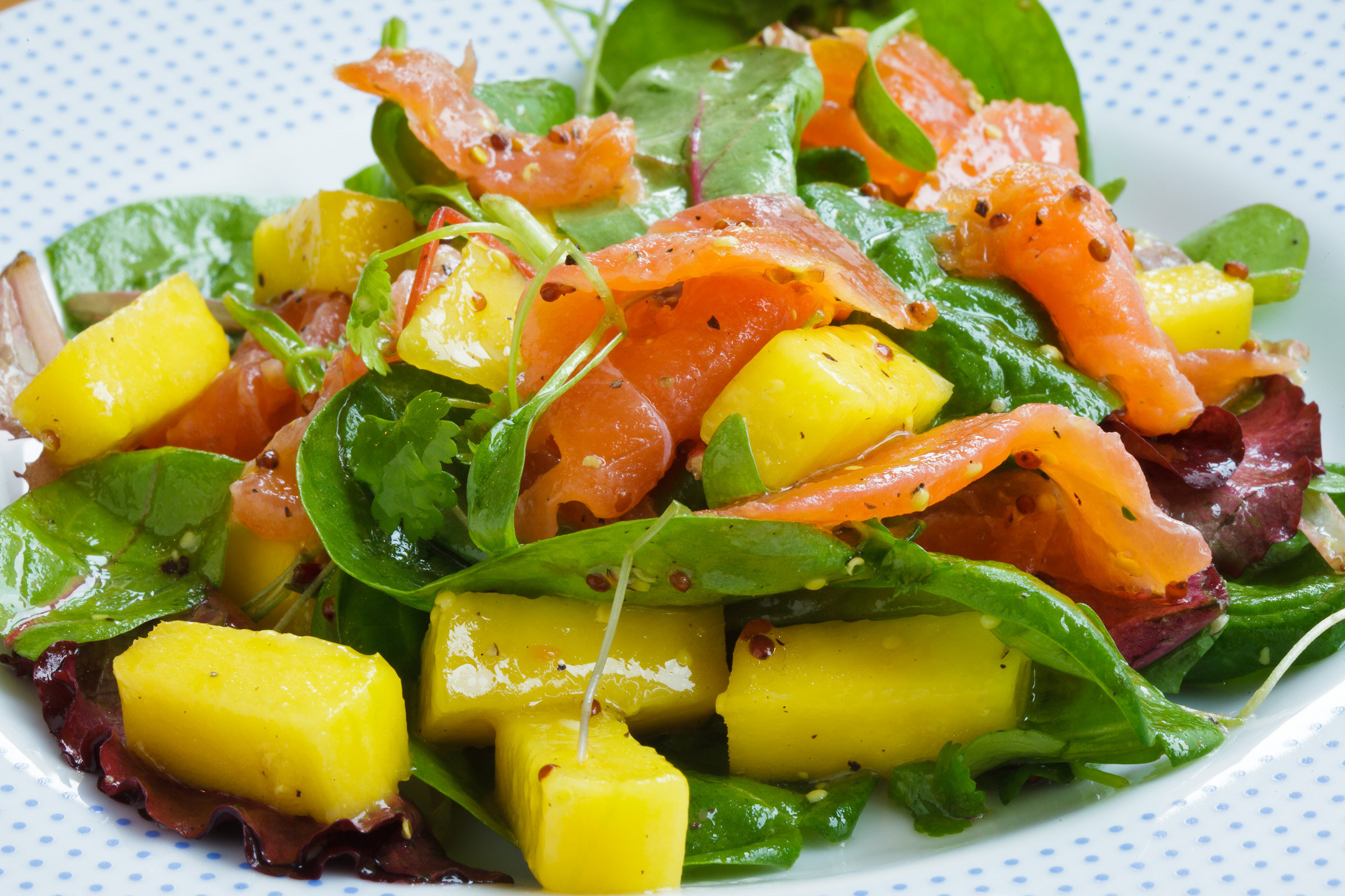 Smoked Salmon And Mango Salad