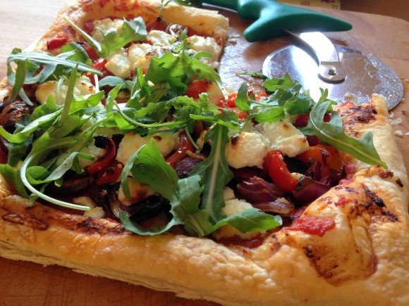 Easy Peasy Goats Cheese and Roast Vegetable Tart | Terry Lyons