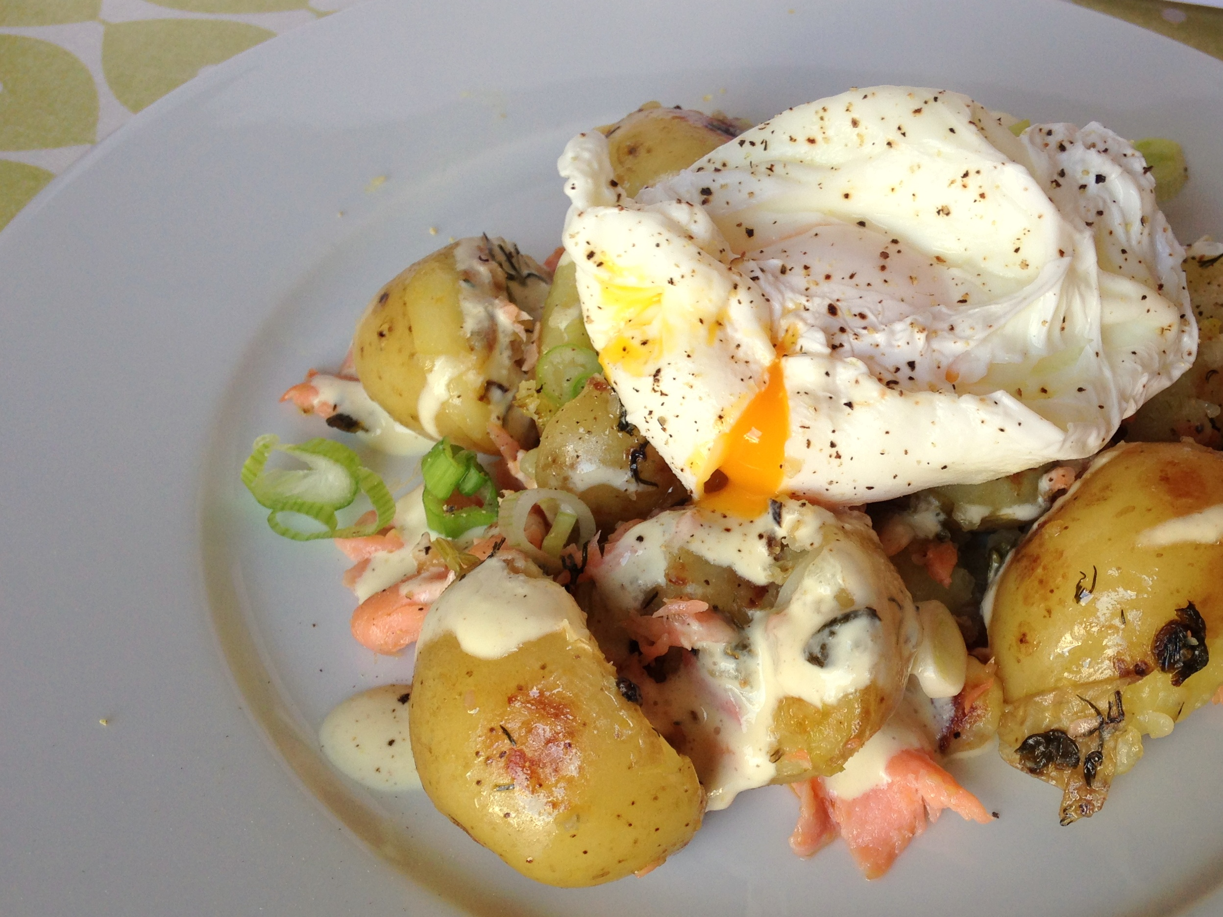 Bluefish Hash With Mustard And Lemon Thyme Recipe — Dishmaps
